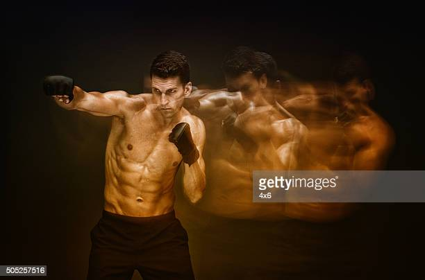 Multiple exposure - Mixed martial arts player