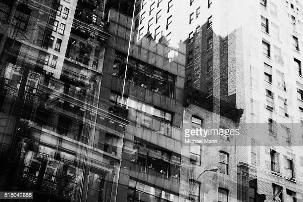 Multiple exposure of building facades