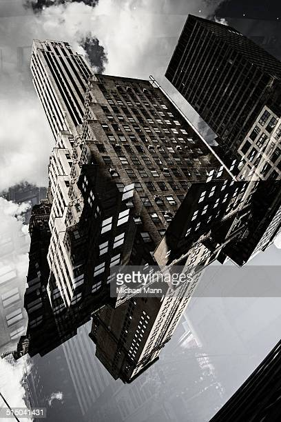 Multiple exposure of buildings in Manhattan, New York, USA