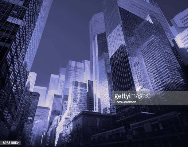 Multiple exposure of Park Avenue in New York