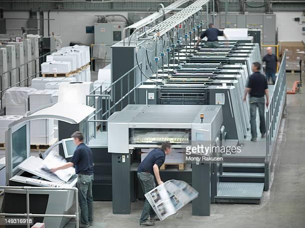 Multiple exposure of printers using industrial printing press