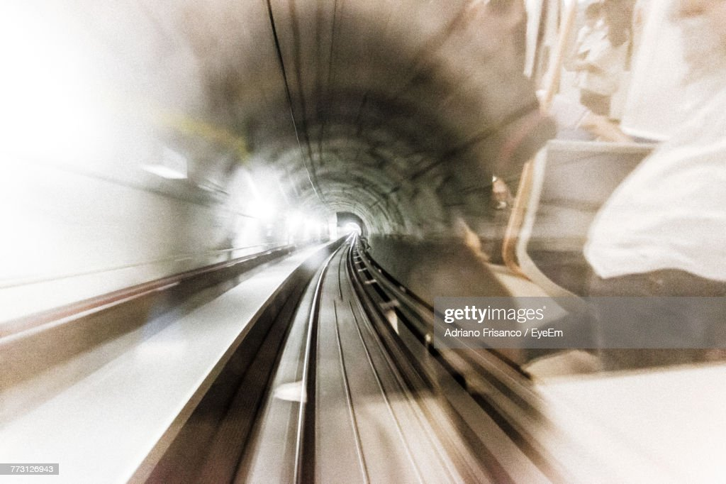 Multiple Exposure Of Subway Station And Train : Photo