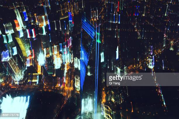 Multiple exposure of the Shanghai World Financial Center, Shanghai, China