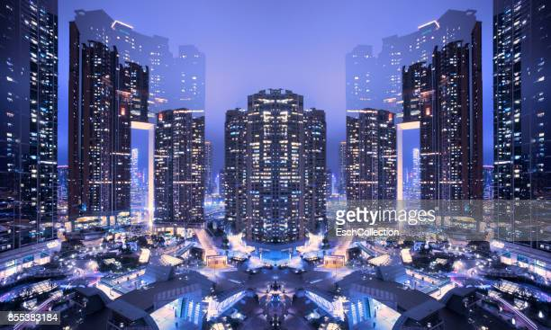Multiple exposure of Union Square, Hong Kong