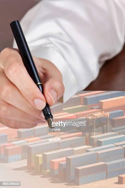 multiple exposure paper on desk