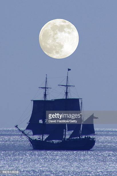 multiple exposure - galleon stock photos and pictures