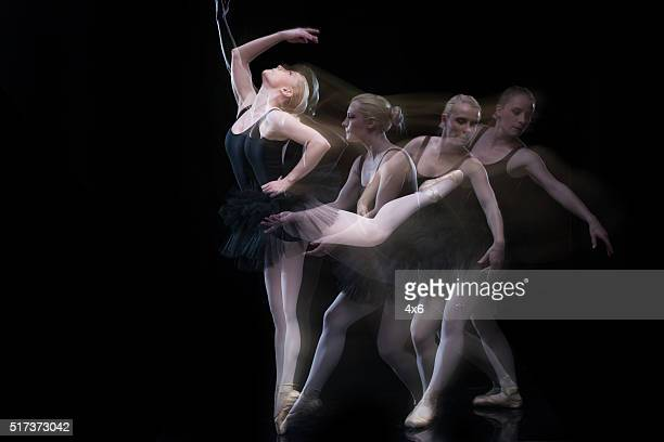 Multiple Exposure - Woman ballet dancing