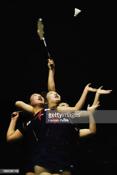 EDITOR'S NOTE Multiple exposures were combined in camera to produce this image Akane Yamaguchi of Japan plays a shot during the New Zealand Badminton...
