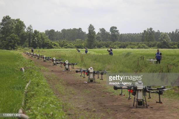 Multiple flight spraying trials with agricultural unmanned aerial vehicles are carried out by TARNET, an affiliate of the Agricultural Credit...