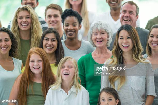 Multiple Generations Standing Together