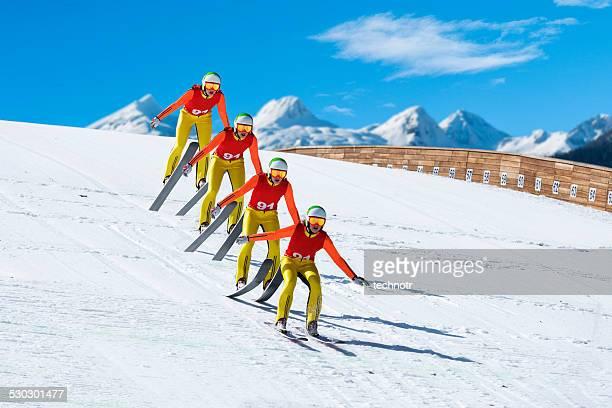 複数の画像のスキージャンプ獲得