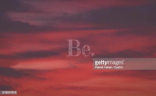 Multiple Image Of Text And Cloudy Sky During Sunset