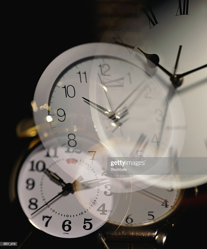 Multiple layers of clocks : Stock Photo