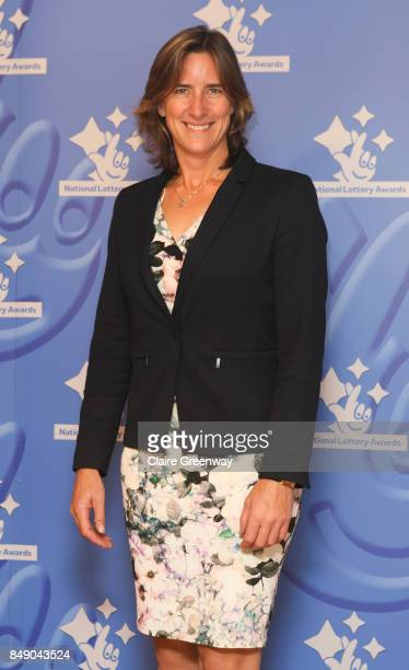 Multiple Olympic medalist rower Dame Katherine Grainger DBE arriving at The National Lottery Awards 2017 at The London Studios on September 18 2017...