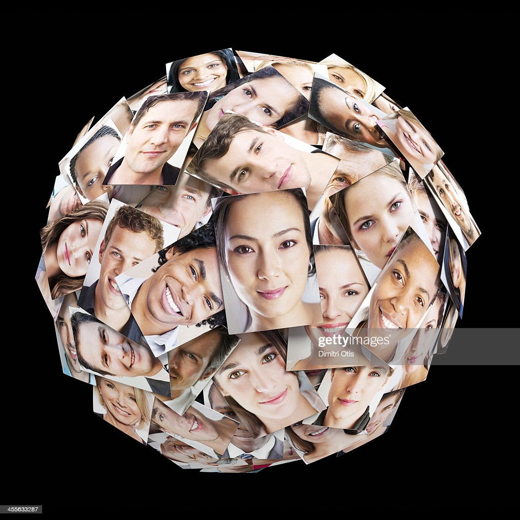 Multiple portrait sphere : Stock Photo