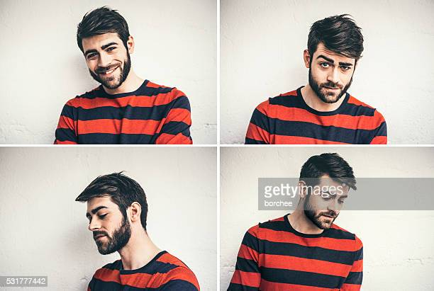 Multiple Portraits Of Young Man From France