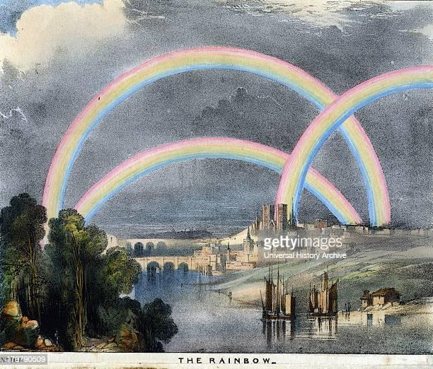 Multiple rainbows Print 1845