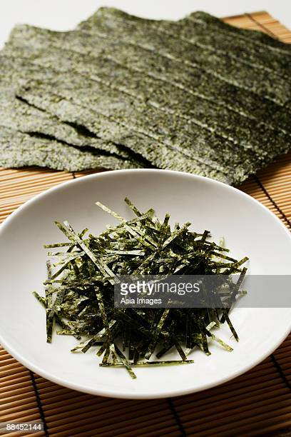 multiple seaweed sheets and shreds