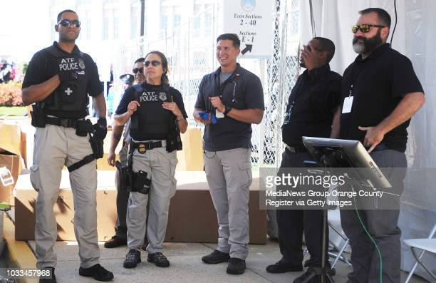 Multiple security agencies keep watch at the Basilica of the National Shrine of the Immaculate Conception in Washinton DC where Pope Francis will...