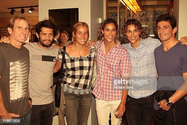 Multiple World windsurfing Champion Robby Naish Bixente Lizarazu French surfer LeeAnn Curren Spanish windsurfers Daida and Iballa Moreno and French...