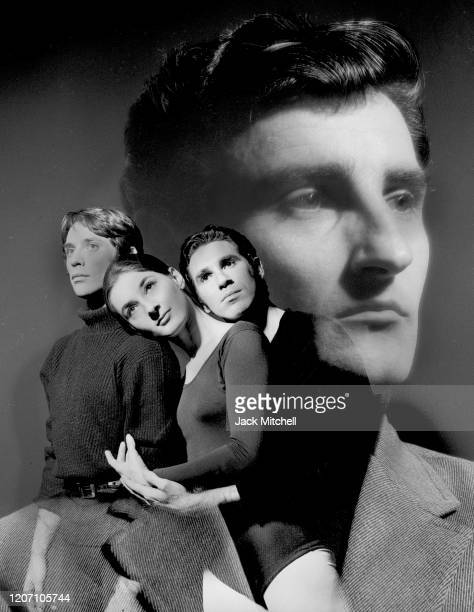 Multiple-exposure view of Michael Smuin , with dancers Ivan Nagy, Ted Kivitt, and Cynthia Gregory, in the American Ballet Theater's production of...