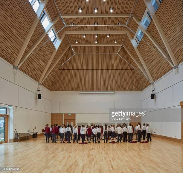 Multi-purpose hall in use. Highgate Shool, London, United Kingdom. Architect: Architype Limited, 2016.