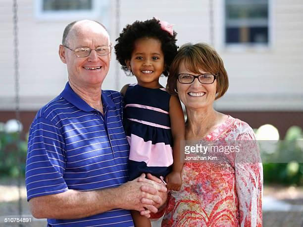 Multi-racial adoptive family