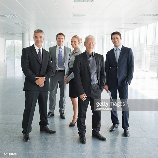 multiracial business team - five people stock pictures, royalty-free photos & images