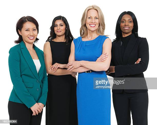 Multiracial Business Women Smiling