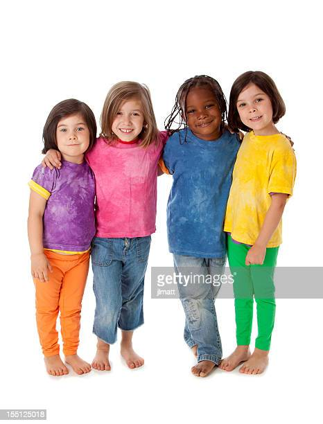 Multi-Racial Group of Diverse Children Standing Together Friends