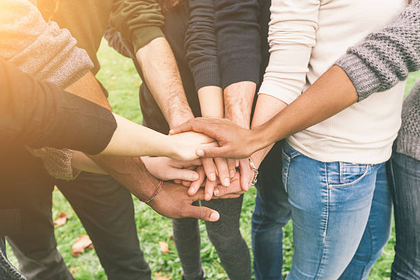free group holding hands images pictures and royalty free stock