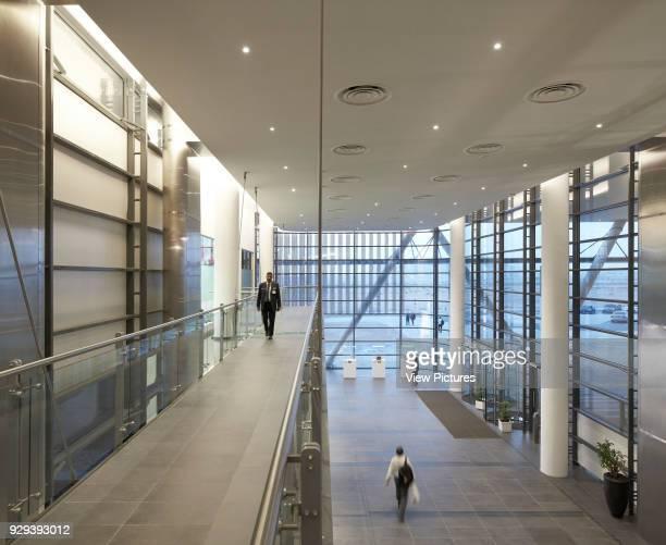 Multi-storey lobby. Siemens Masdar, Abu Dhabi, United Arab Emirates. Architect: Sheppard Robson, 2014.
