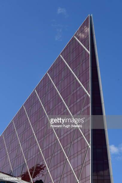 multi-storey office building victoria skyline - triangle shape stock pictures, royalty-free photos & images