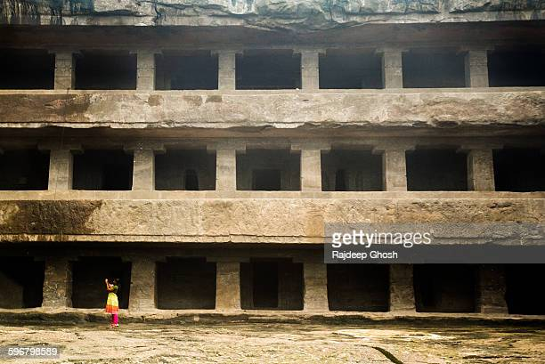 Multi-story caves of Ellora