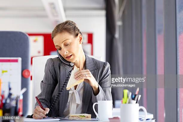 Multitasking Female Professional