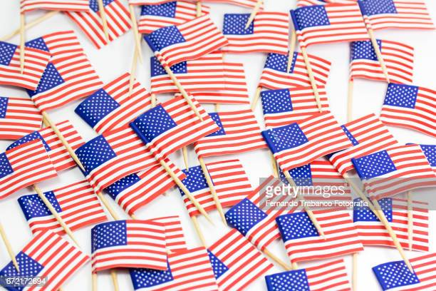 Multitude of flags of the United States