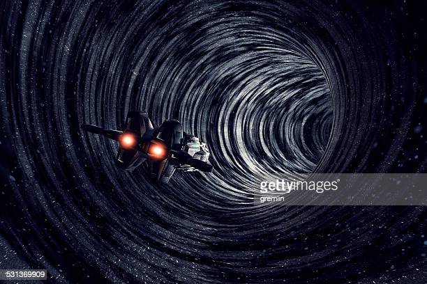 multiverse travel, time, black hole, universe, dimension - spaceship stock photos and pictures