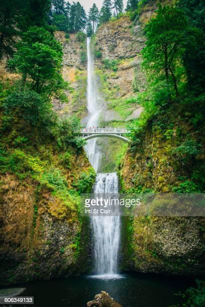 Multnomah Falls and bridge, Portland, Oregon, United States