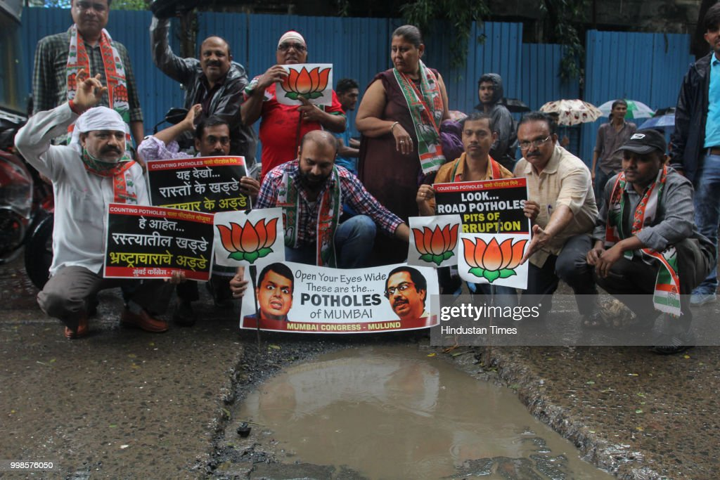 Mulund Congress Protest Against Potholes