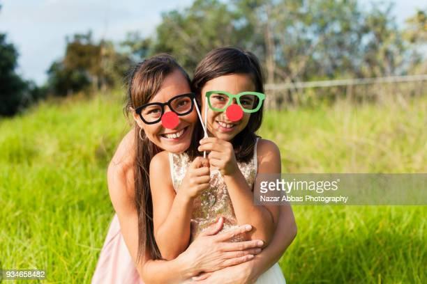 Mum and daughter enjoying outdoors.