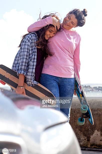 Mum and daughter Skate board