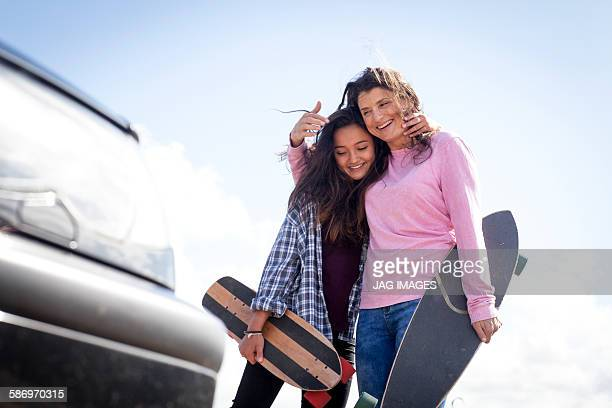 Mum and daughter Skate board