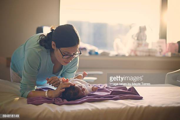 Mum with newborn at the hospital