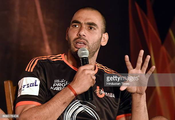 Anup kumar stock photos and pictures getty images mumbai captain anup kumar speaks during a press conference of star sports pro kabaddi season 3 thecheapjerseys