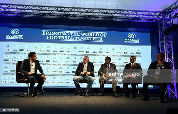 Mumbai City FC Manager Peter Reid General Secretary All India Football Federation Kushal Das Ficci Director of Sport Rajpal Singh and CEO of...
