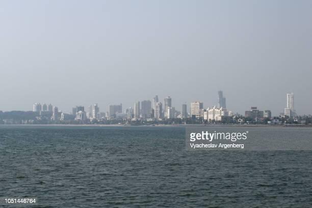 mumbai city skyline, india - argenberg fotografías e imágenes de stock