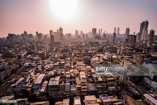 mumbai cityscape at grant road station, india - ムンバイ ストックフォトと画像