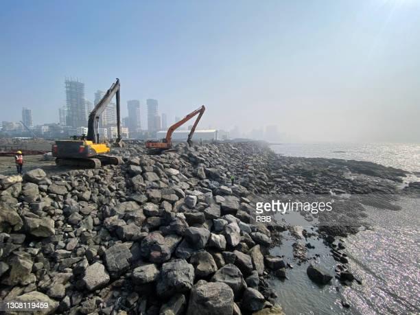 mumbai coastal road - beddengoed stockfoto's en -beelden