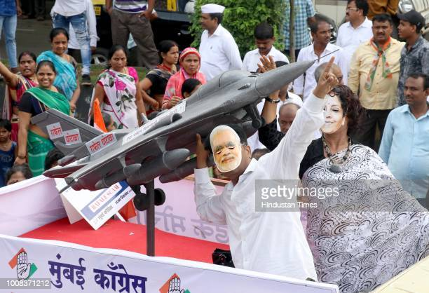 Mumbai Congress activists held Rally to Condemn against Rafale Aircraft Deal Scam from Fashion Street to Azad Maidan on July 30 2018 in Mumbai India