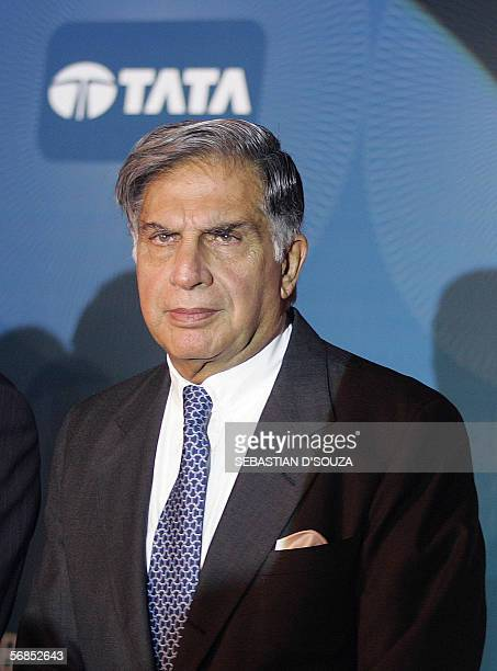 Chairman of Tata Sons Ltd, Ratan Tata attends the launch of 'The Tata Credit Card' in Mumbai, 15 February 2006. The Tata Group, in a joint venture...
